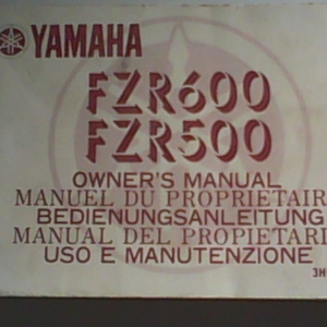 FZR600 - FZR500 owner's manual gratis