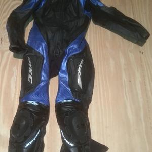Spyke overall blauw voorkant