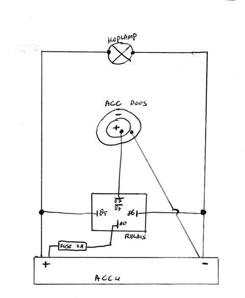 aansluiten relais tbv 12v aansluiting